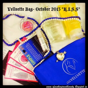 """Vellvette Bag - October 2013 """"K.I.S.S."""" (Keep It Simple & Sexy) !!"""