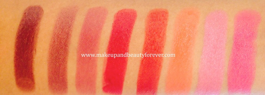 All Lakme Absolute Matte Lip Colours Review, Swatches Shades Price and Details