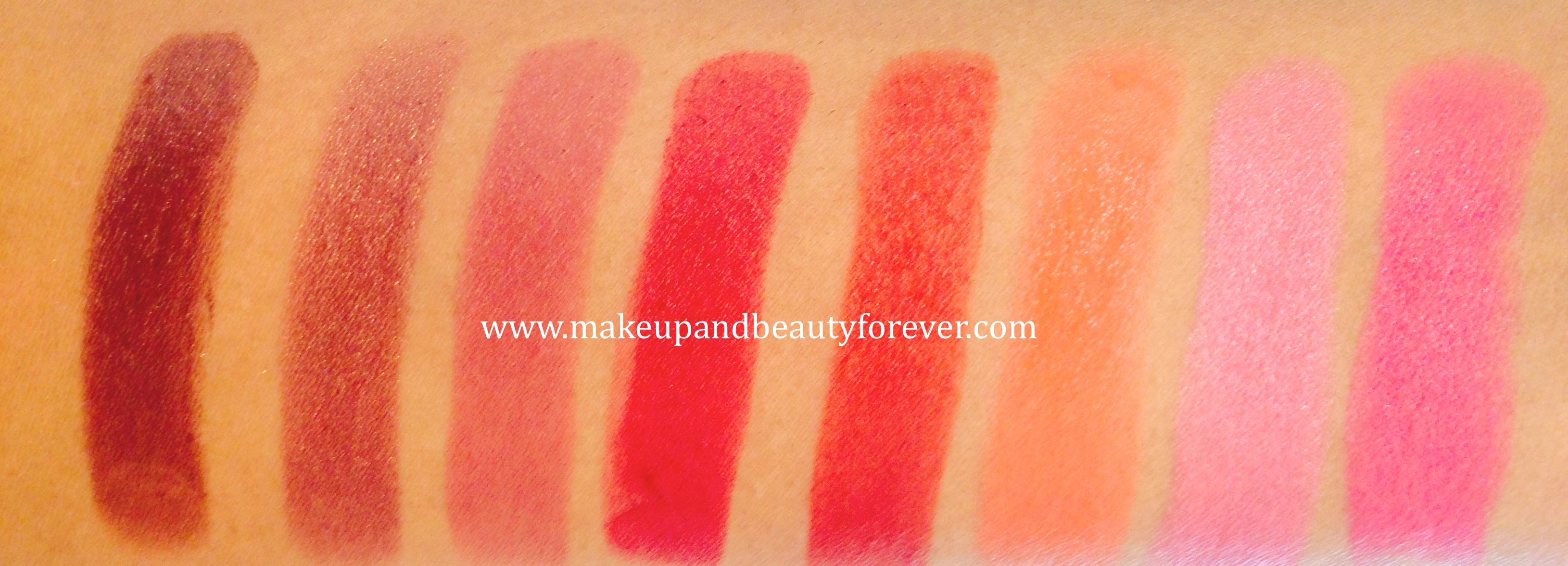 All Lakme Absolute Matte Lip Colours Review, Swatches ...