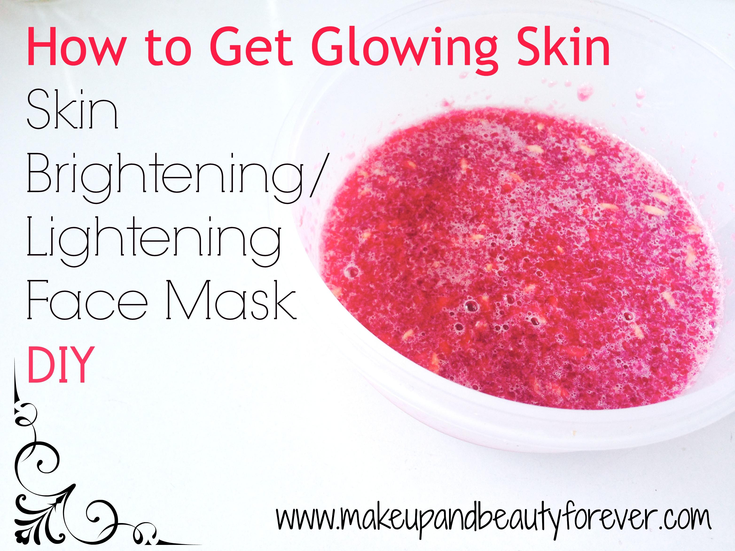 Skin Brightening Lightening Face Mask Diy