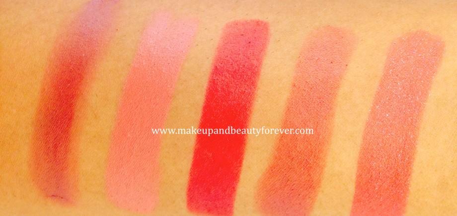 Lakme Absolute Matte Lip Colour Peach Carnation 207 Lakme Absolute Matte Lip Colour Rose Kiss 211 Lakme Absolute Matte Lip Colour Moulin Rouge 216