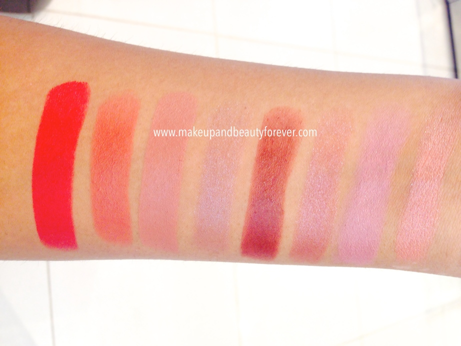 Lakme 9 to 5 Matte Lipstick Lip Color Review, Shades, Swatches, Price Details