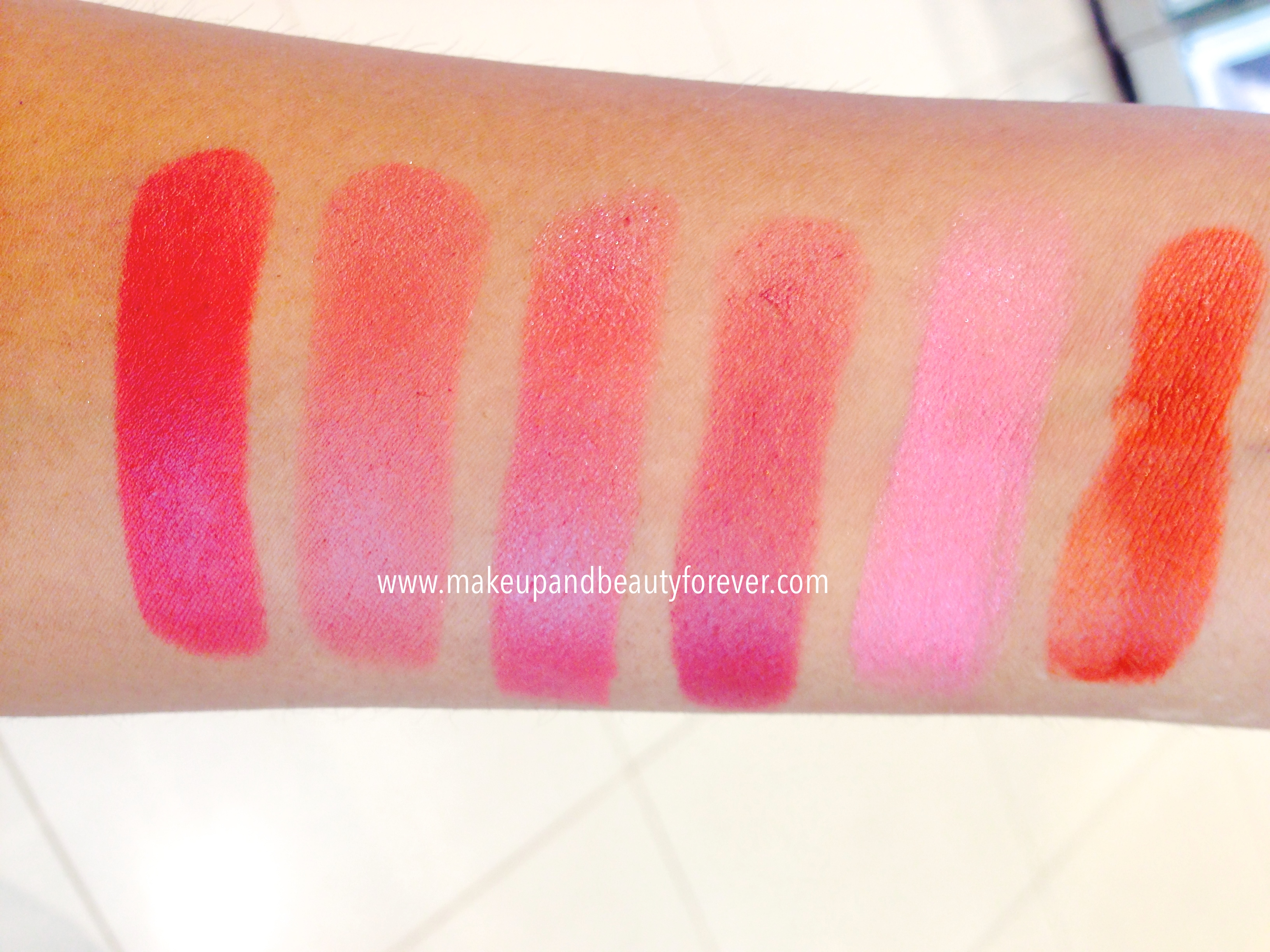 Lakme 9 to 5 Matte Lipstick Lip Color Review, Shades ...