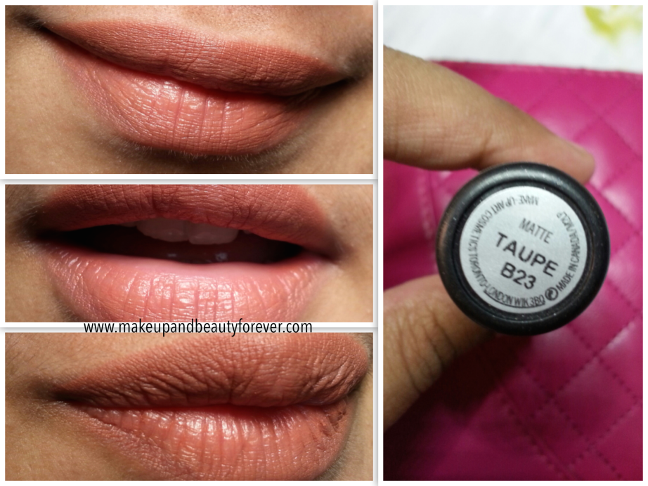 Mac Matte Lipstick Taupe Review Swatches And Lotd