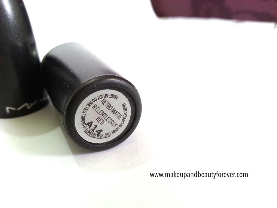MAC Relentlessly Red Retro Matte Lipstick Review, Swatches