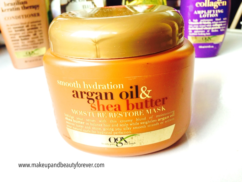 Organix Smooth Hydration Argan Oil and Shea Butter Moisture Restore Mask MBF India