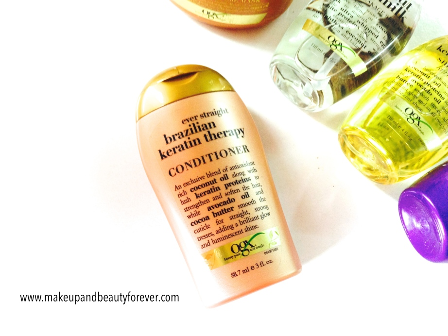 Organix ever straight brazilian keratin therapy conditioner India