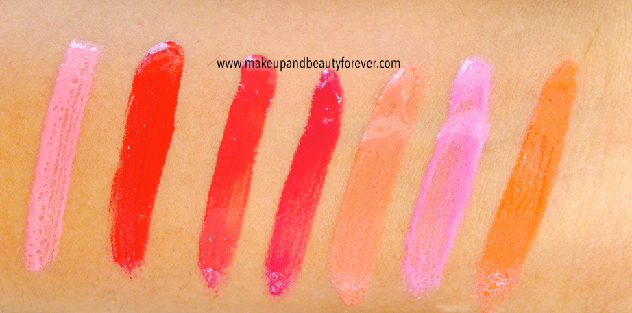 Pink Pout, Berry Cherry, Berry Cherry, Burgundy Burn, Rust Crush, Neon Pink, Coral Sunset