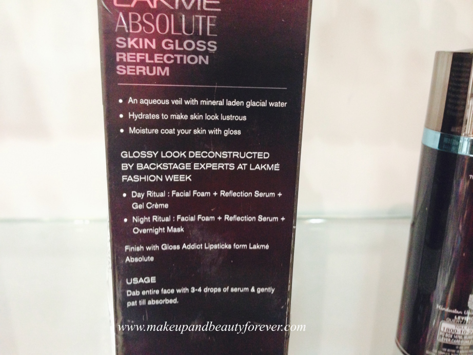 Lakme Absolute Skin Gloss Refection Serum Review, Price, Swatch mbf india