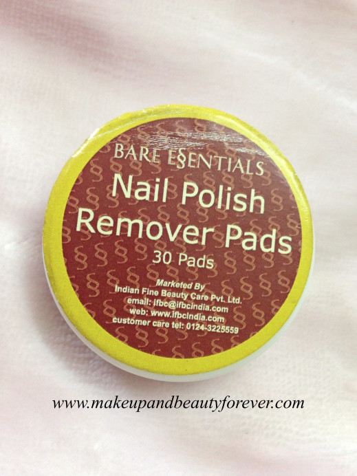 Bare Essentials Nail Polish Remover Pads Review