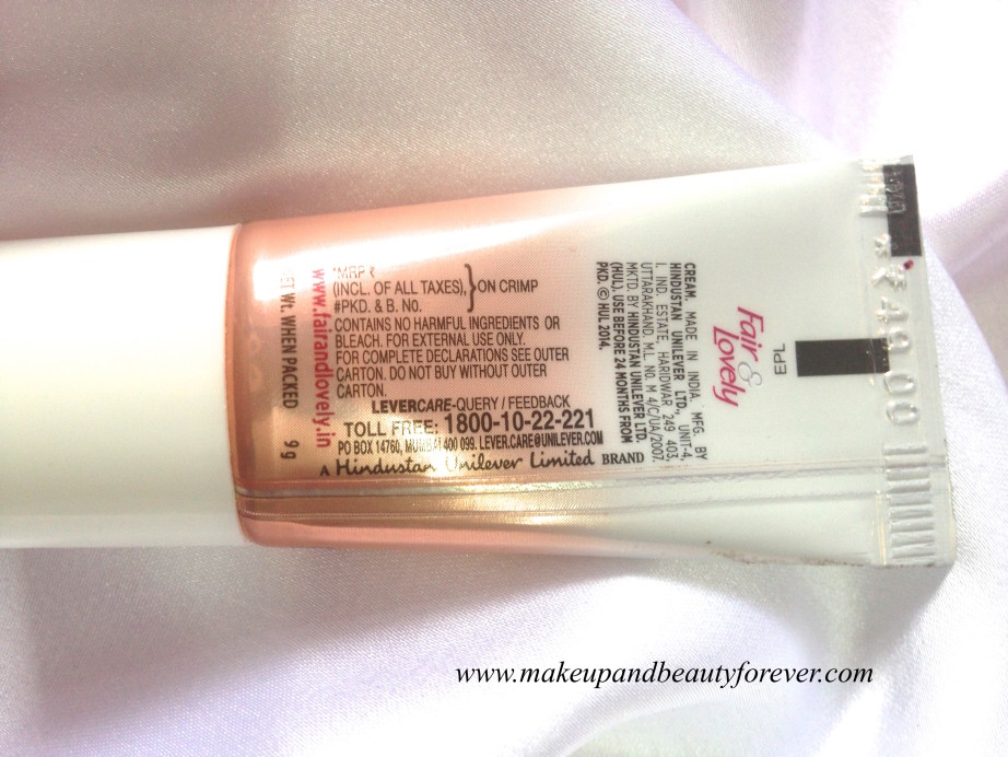 Fair and Lovely BB Cream Review India