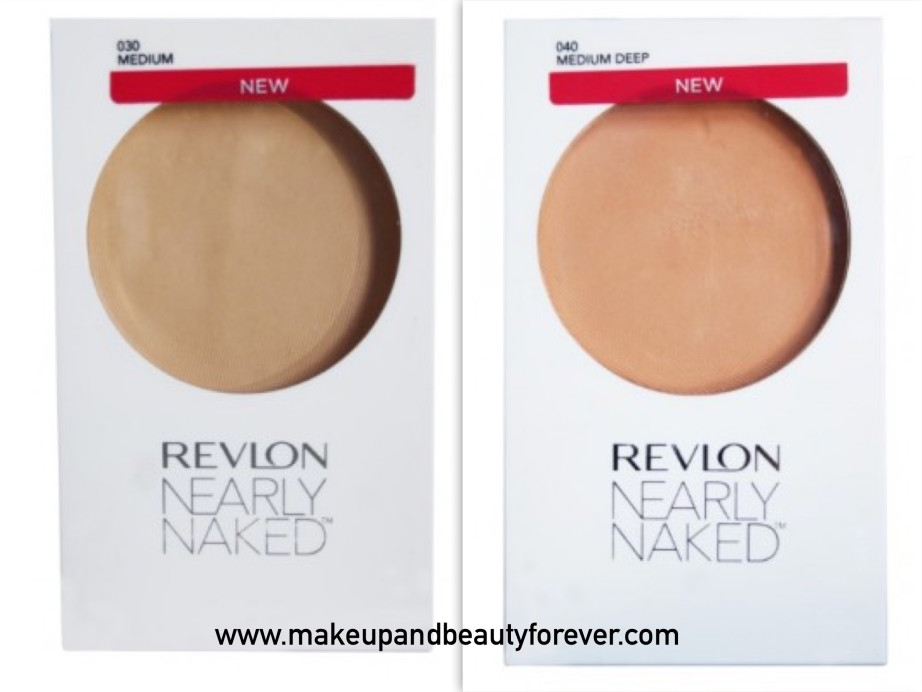 All Revlon Nearly Naked Pressed Powder Review Shades Swatches Price and Details Medium, Medium Deep