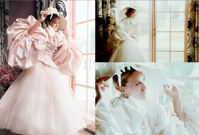 and the City Carrie Bradshaw Wedding Dress from Vogue Photo shoot