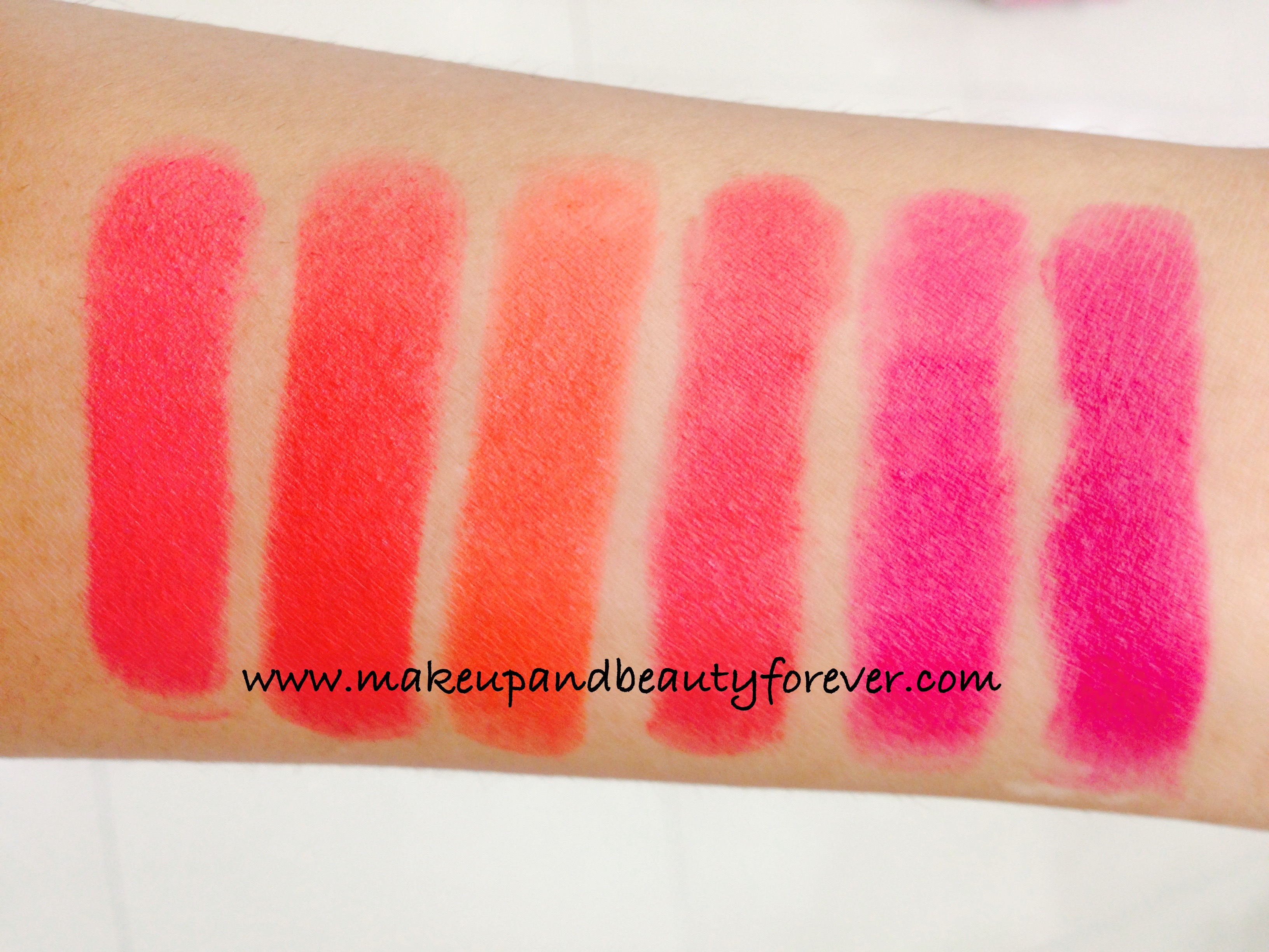 All Lakme Absolute Lip Pout Matte Lipstick Review Shades ...