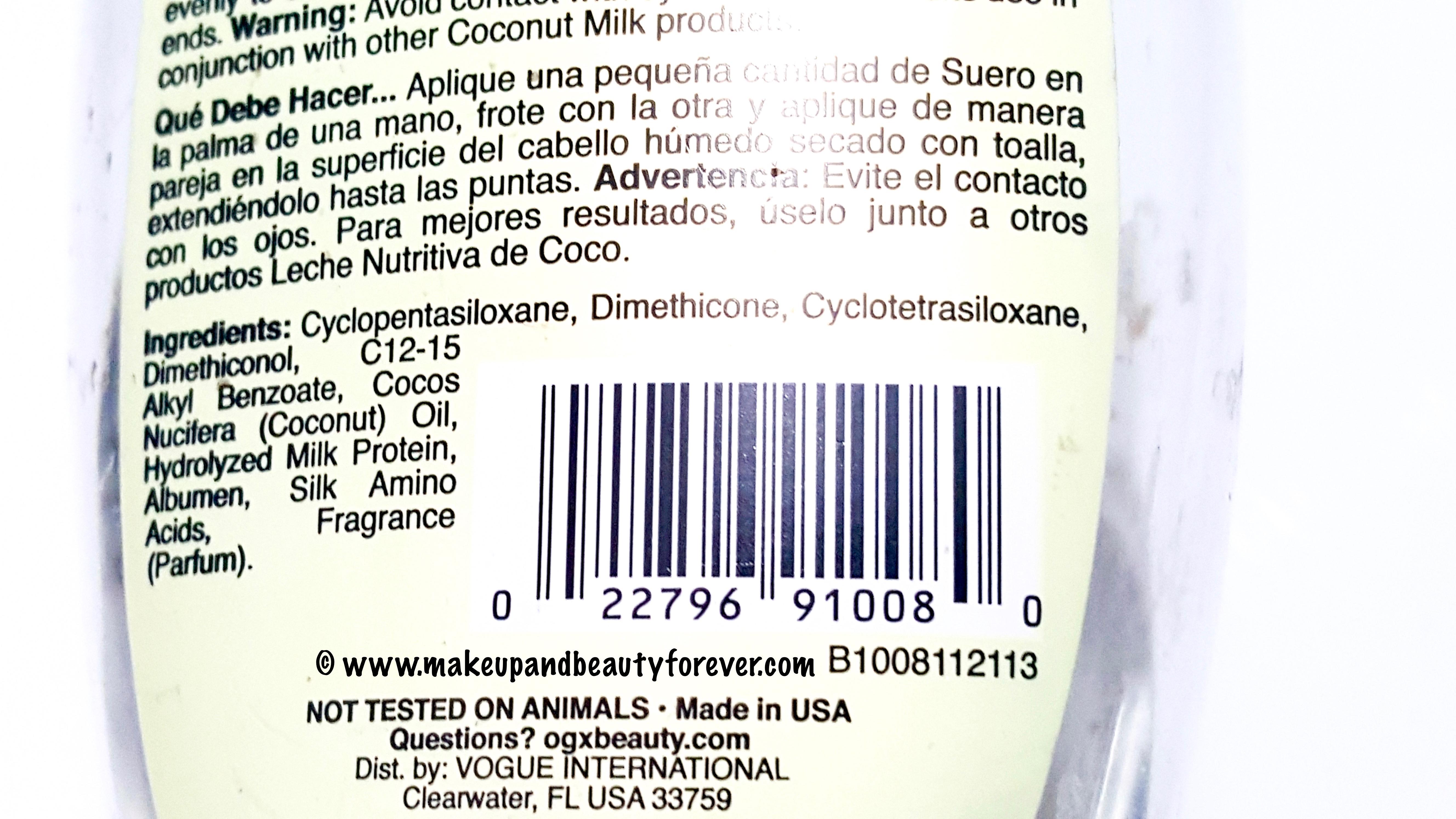 Organix Nourishing Coconut Milk Anti Breakage Serum Review
