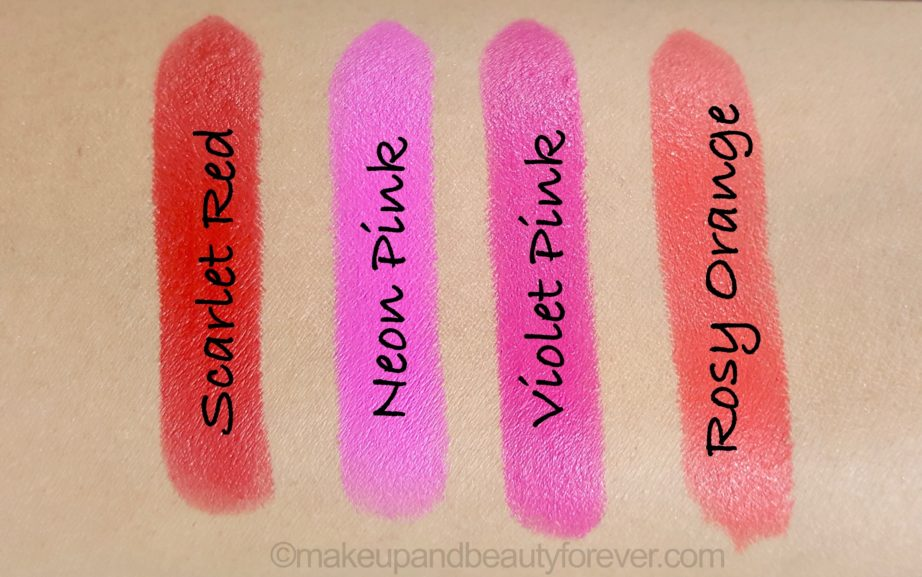 All Maybelline Vivid Matte Lipsticks Review Shades Swatches Price And Details