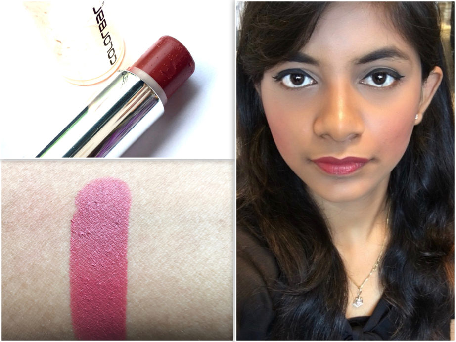 Colorbar Velvet Matte Lipstick Over The Top 1 Review Swatches