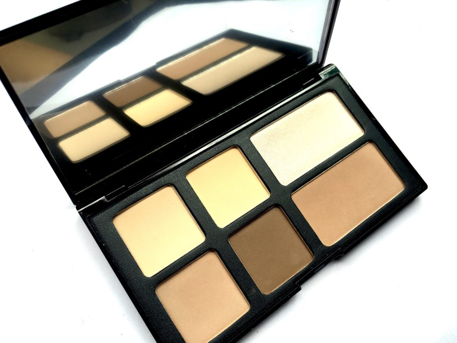 Freedom Pro Strobe Highlight and Contour Palette With Brush Review Swatches all shades