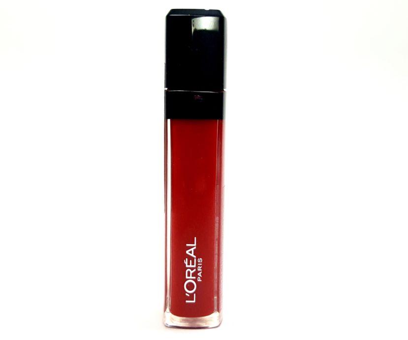 L'Oreal Infallible Mega Gloss 106 Alerte Rouge Review makeup forever beauty blog