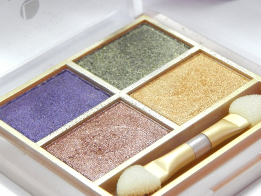 Lakme 9 to 5 Eye Quartet Eyeshadow Palette Tanjore Rush Review Swatches close up