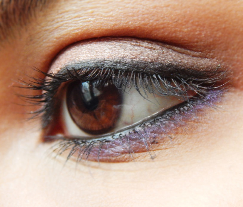 Lakme 9 to 5 Eye Quartet Eyeshadow Palette Tanjore Rush Review Swatches on eye makeup look