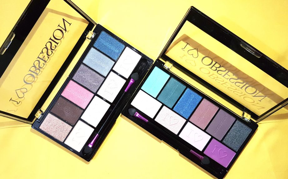Makeup Revolution I ♡ MAKEUP I ♡ OBSESSION Eye Shadow Palettes - Paris & Wild is the Wind Review Swatches MBF Blog