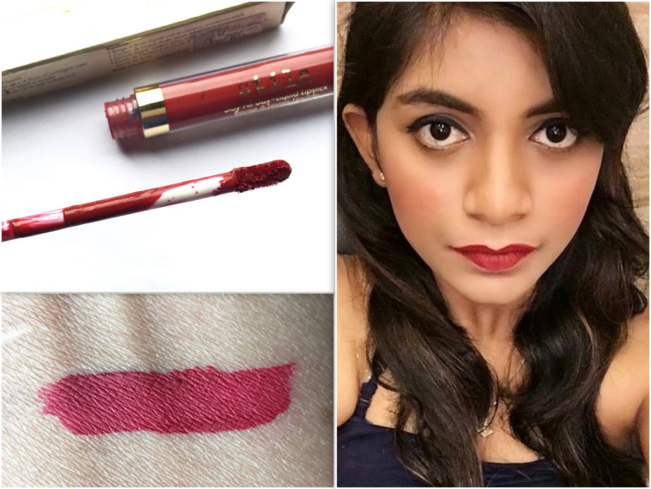 Stila Stay All Day Liquid Lipstick Fiery Review Swatches MBF Blog