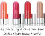 All Colorbar Lip & Cheek Color Blush Sticks 4 Shades Review, Swatches