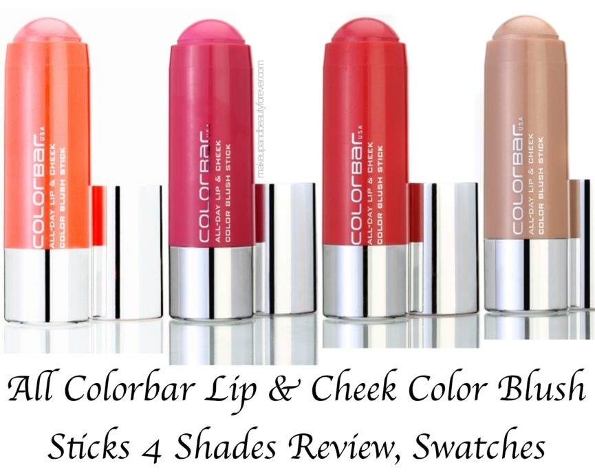 All Colorbar Lip & Cheek Color Blush Sticks 4 Shades Review Swatches