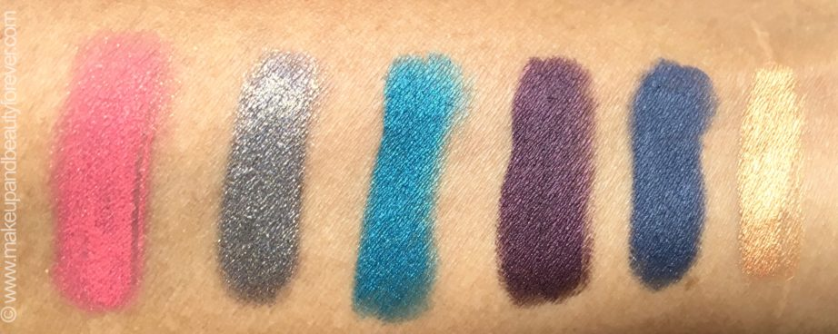 All Faces Ultime Pro Eyeshadow Crayons 6 Shades Review Swatches Dancing Queen 01 Night Fever 02 Last Christmas 03 Uptown Girl 04 Staying Alive 05 Shes Got D Look 06 mbf