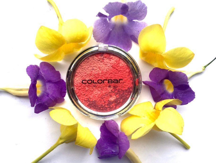 Colorbar Luminous Rouge Blush Luminous Rose Review Swatches Makeup FOTD