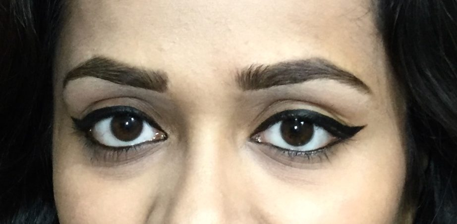 Lakme Absolute Precision Liquid Liner Review Swatches on eye makeup look