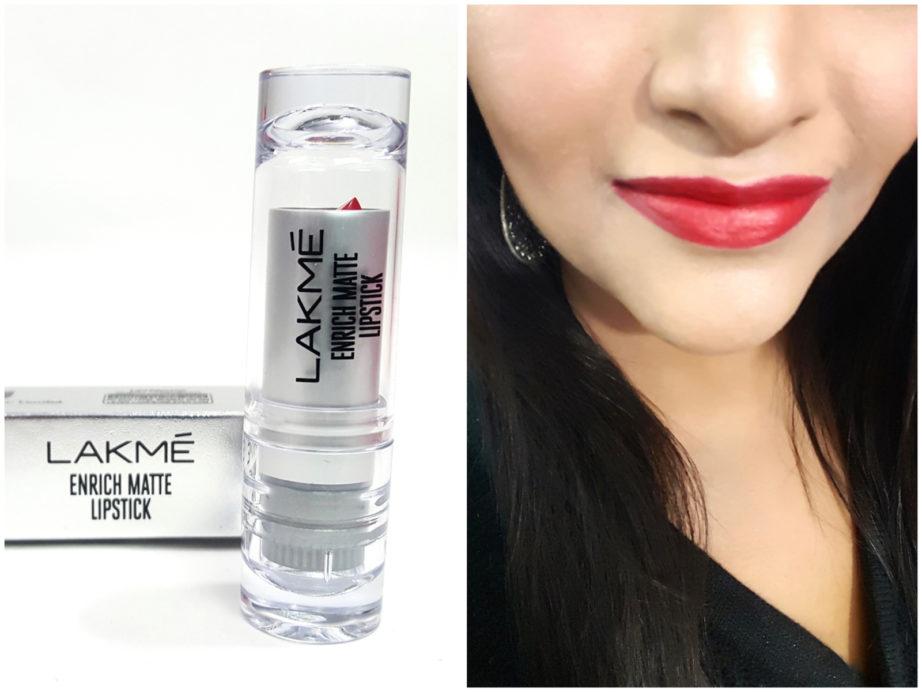 Lakme Enrich Matte Lipstick RM 14 Review Swatches