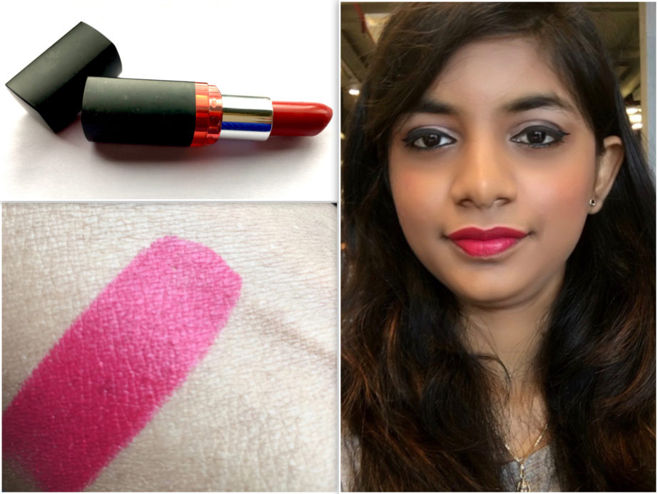 Maybelline Color Show Big Apple Red Creamy Matte Lipstick Pink My Red Review swatches lips pooja