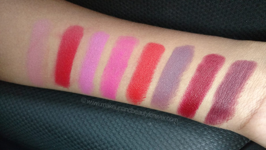All Milk Makeup Lip Colors 8 Shades Review Swatches