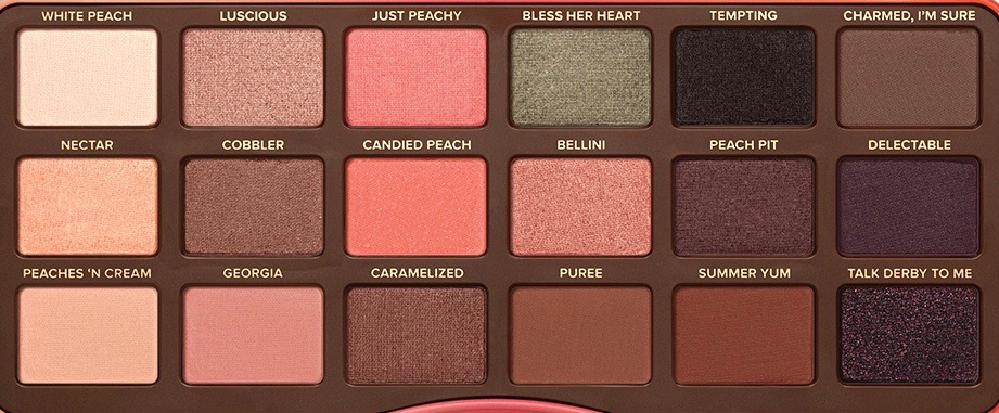 Too Faced Sweet Peach Eyeshadow Palette Review, Swatches