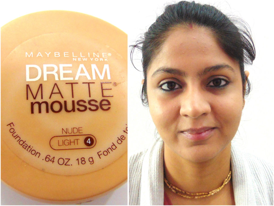 Maybelline Dream Matte Mousse Foundation Review, Swatches MBF Makeup Look