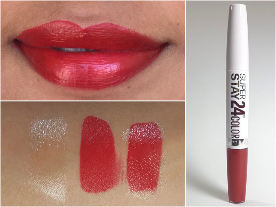Maybelline Superstay 24 Color 2 Step Lipstick Keep It Red