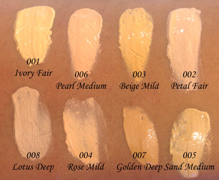 All Colorbar Amino Skin Radiant Foundation 8 Shades Review ...