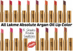 All Lakme Absolute Argan Oil Lip Color Lipsticks 15 Shades Review, Swatches