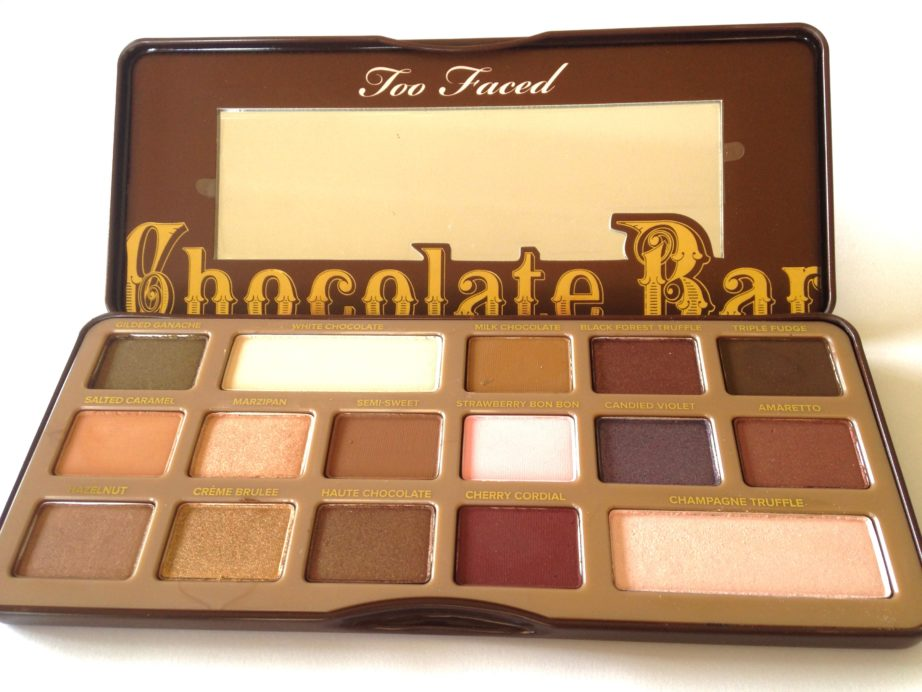 Too Faced Chocolate Bar Eyeshadow Palette Review Swatches
