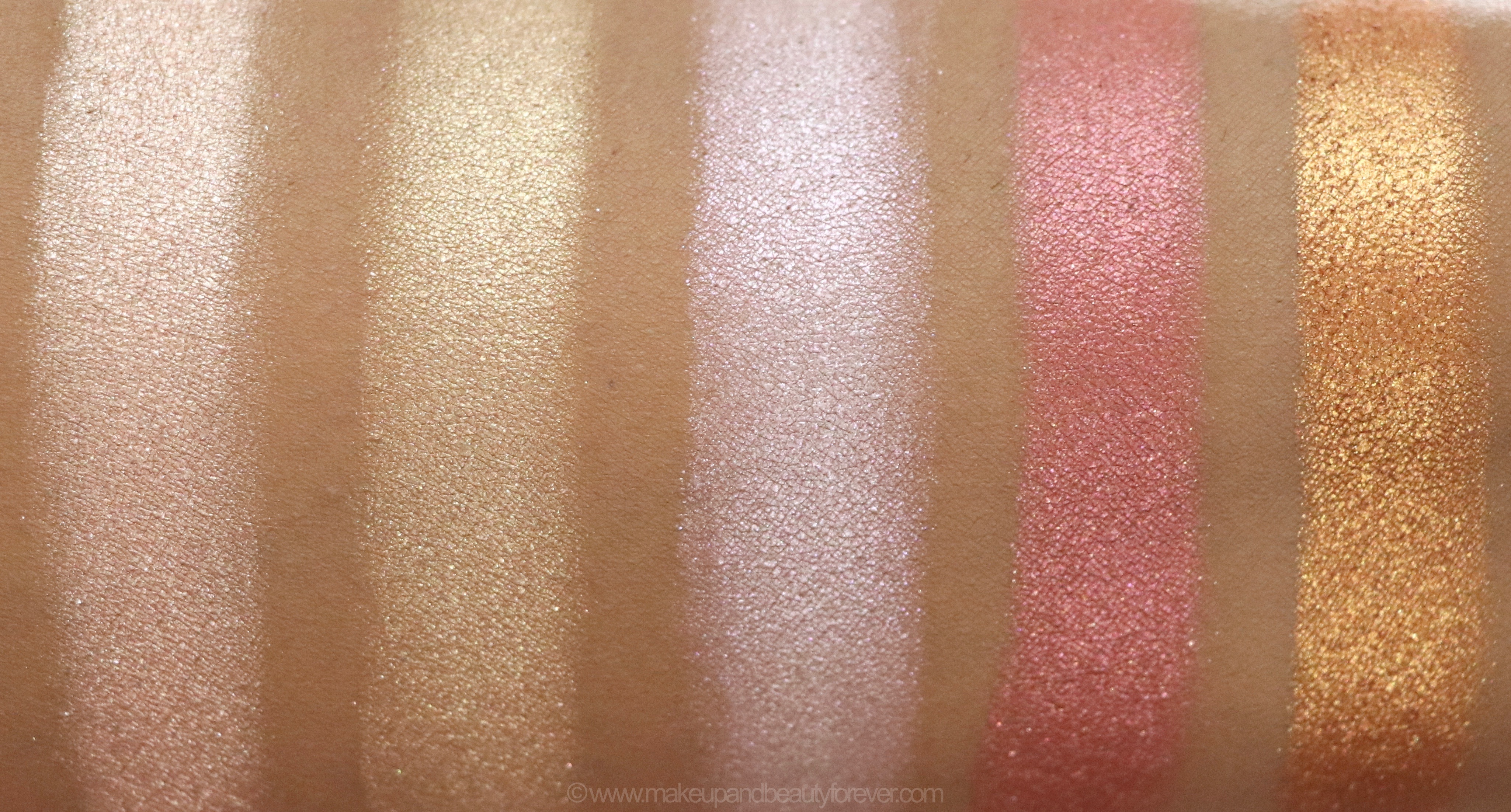 Morphe Pressed Pigments Swatches Powder Room, Conceited ...