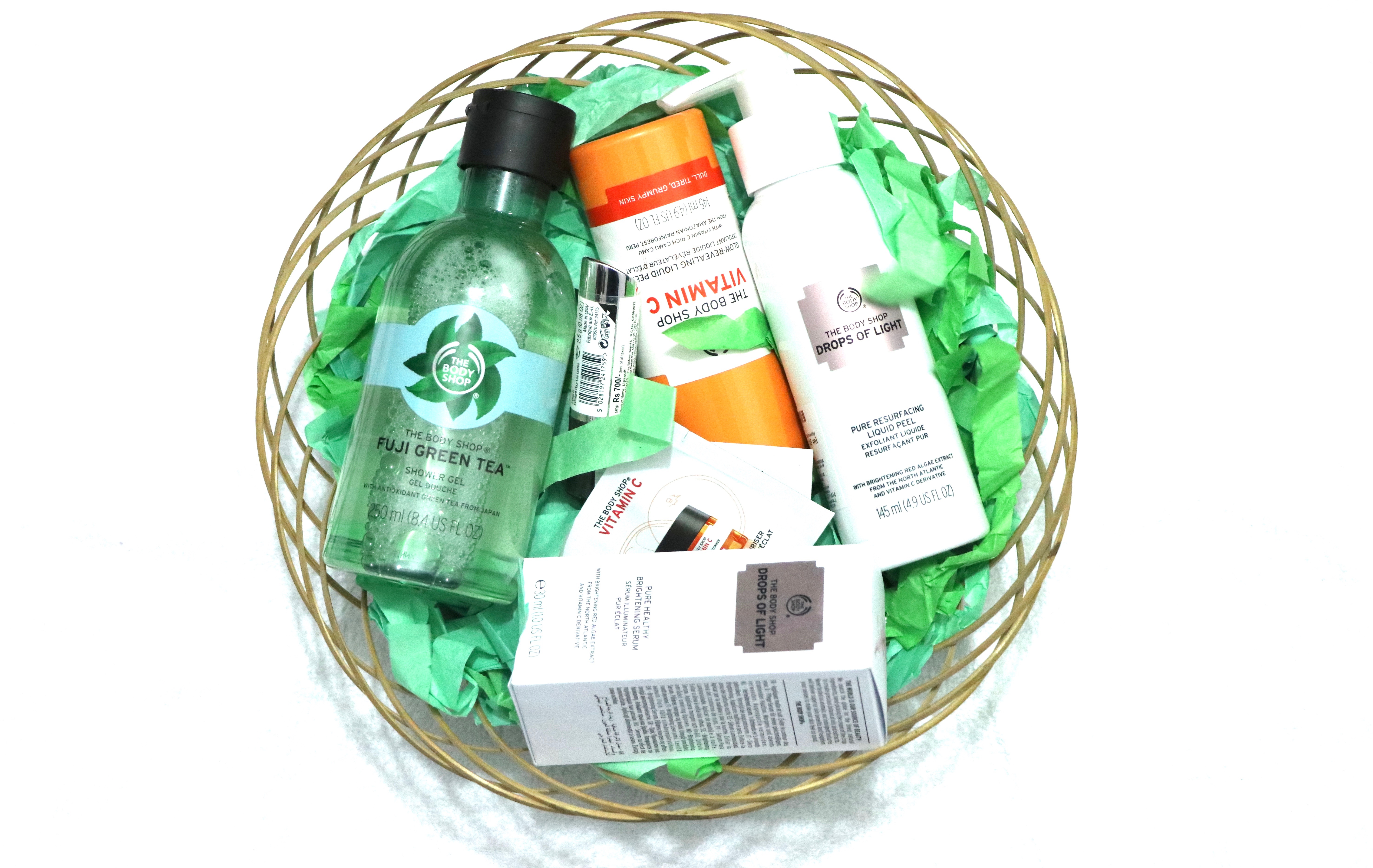 The Body Shop Haul Fuji Green Tea Shower Gel Vitamin C