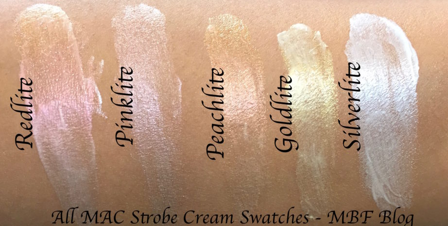 All MAC Strobe Cream Shades Review, Swatches