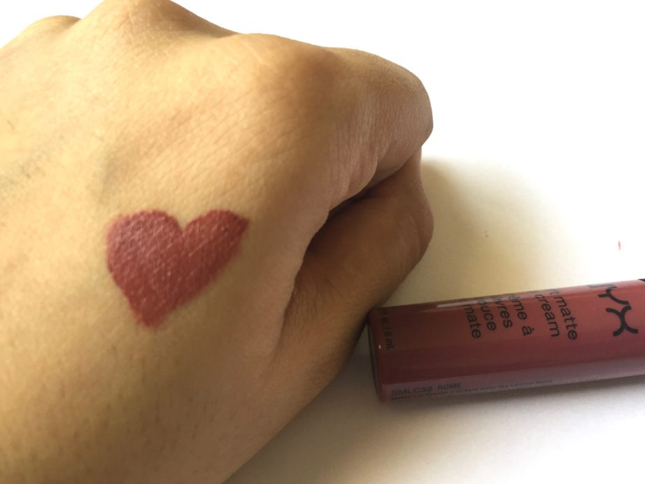 Nyx Rome Soft Matte Lip Cream Review Swatches