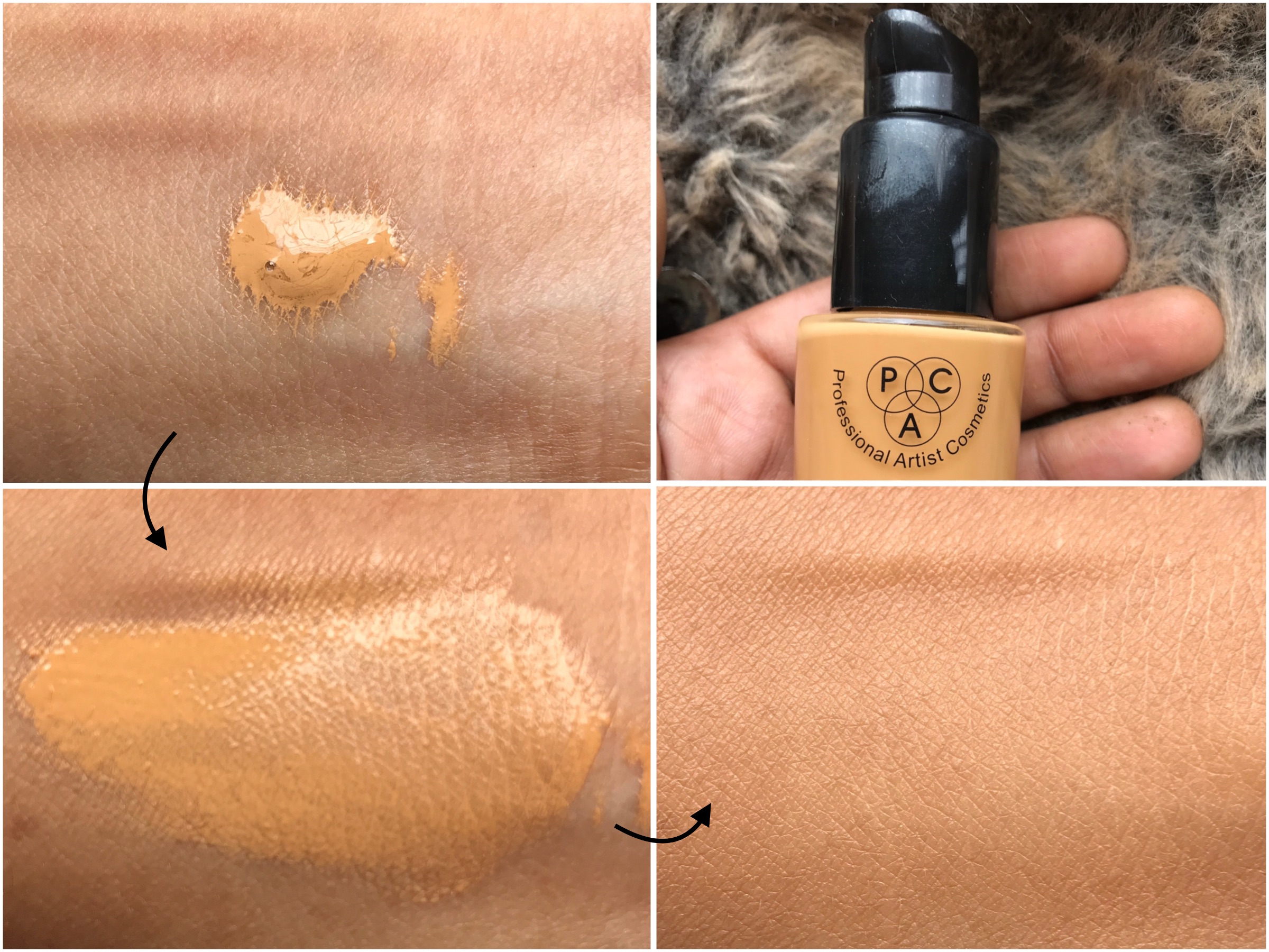 PAC HD Liquid Foundation Review, Swatches on MAC NC 42 skin - Makeup and Beauty Forever | MBF | Indian Makeup Blog| Indian Beauty Blog| Indian Fashion Blog| Women's Health| Eye Makeup| Nail Art| Travel