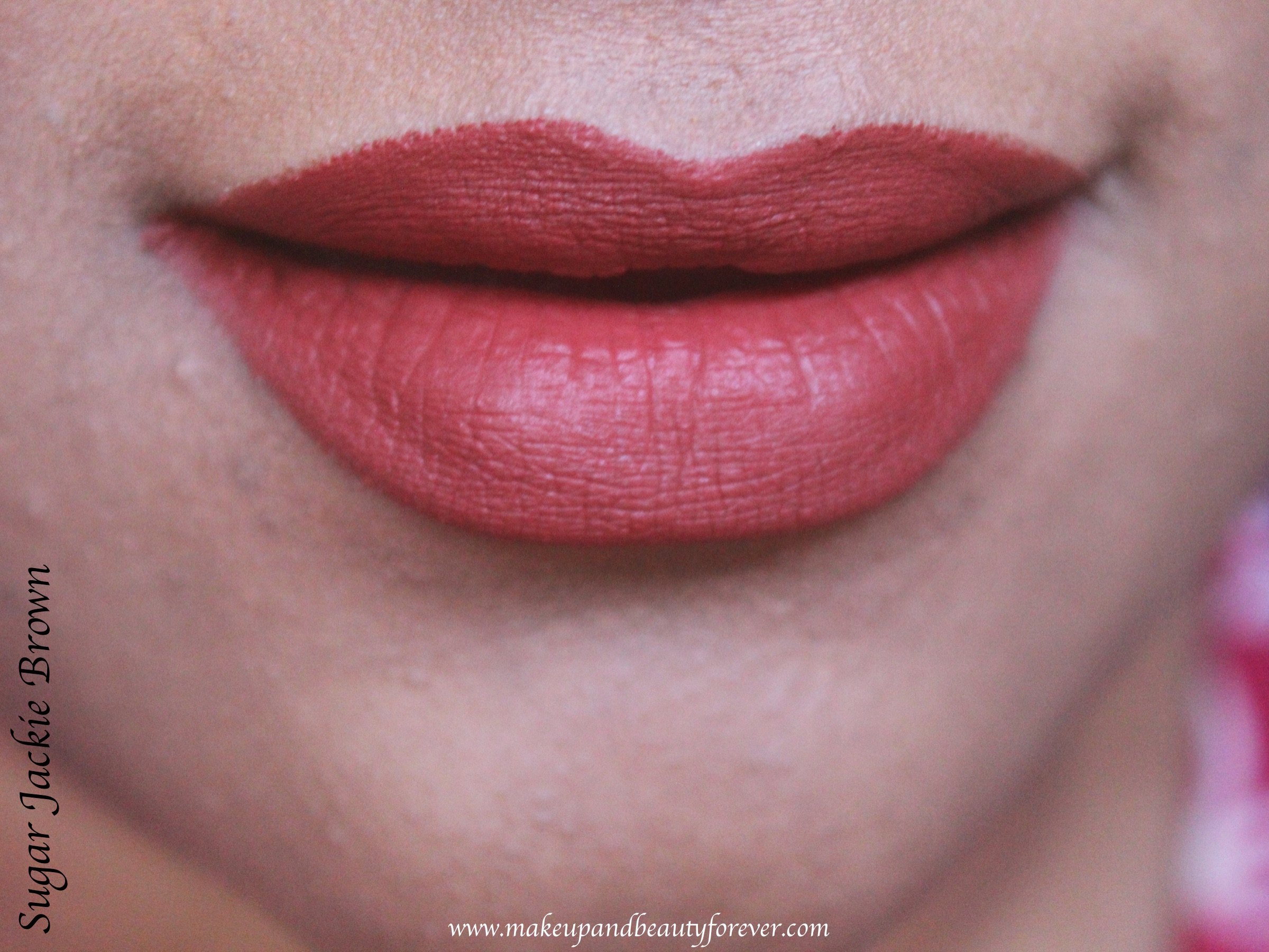 Sugar Jackie Brown 08 Matte As Hell Crayon Lipstick Review
