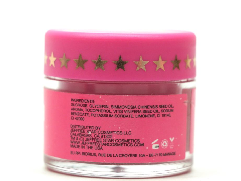 Jeffree Star Velour Lip Scrub Spearmint Review back
