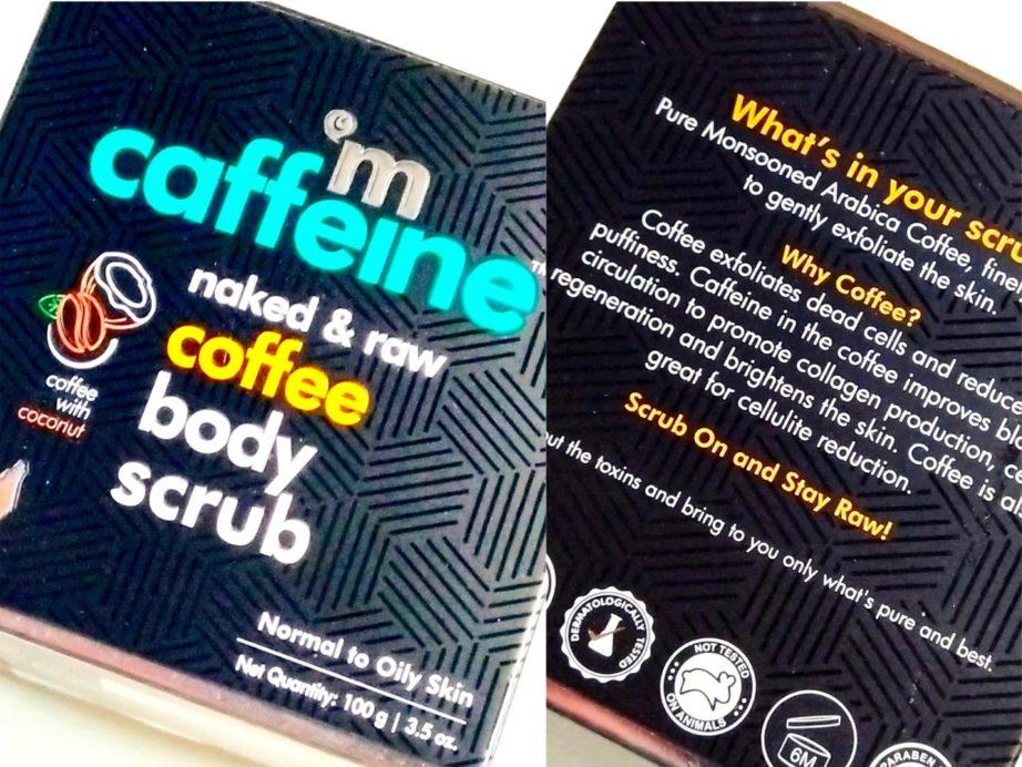 MCaffeine Naked & Raw Coffee Body Scrub Review box