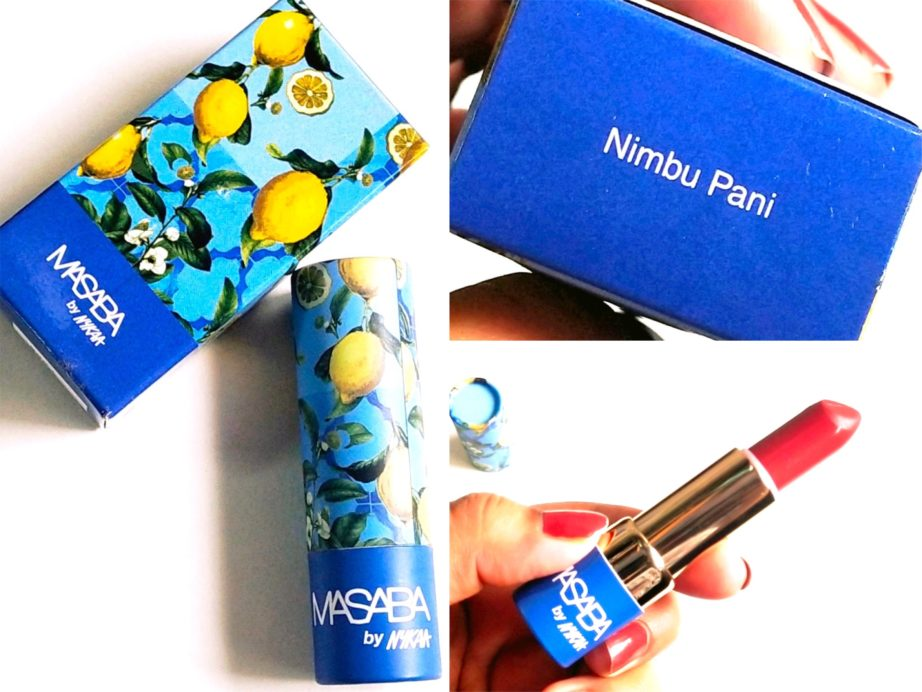 Masaba By Nykaa Lipstick Nimbu Pani Review